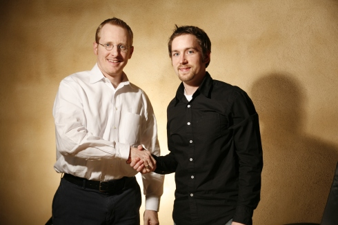 Jason M. Blumer, CPA and Jamin Micah Jantz, CEO holding hands